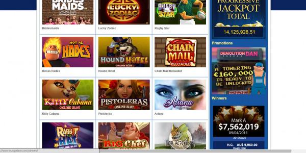 Casino Euro MCPcom games