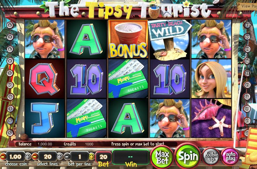 The Tipsy Tourist Video slots by BetSoft MCPcom