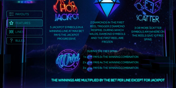 Neon Reels Video slots by iSoftBet MCPcom pay2