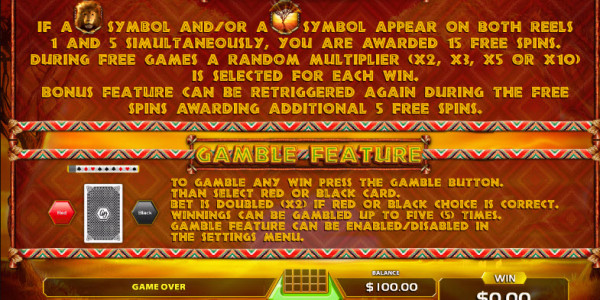 African Sunset Video Slots by GameArt MCPcom pay2