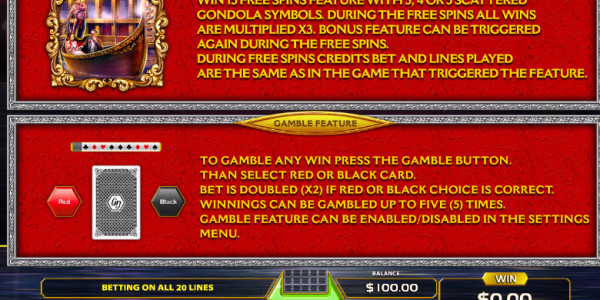 Venetia Video Slots by GameArt MCPcom pay2