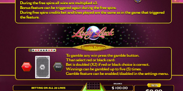 Lady Luck Video Slots by GameArt MCPcom pay2