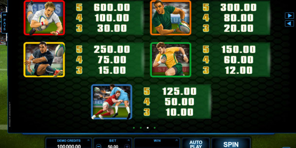 Rugby Star Video slots by Microgaming MCPcom pay2