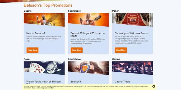 Betsson Casino MCPcom bonus