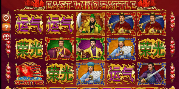 East Wind Battle Video Slots by GamesOS  MCPcom