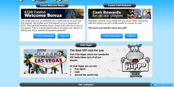 PlayHippo Casino MCPcom bonus