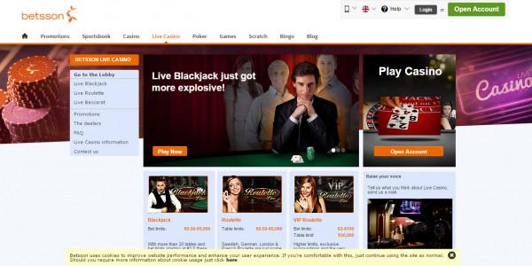 Betsson Casino MCPcom live