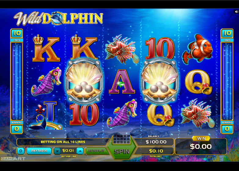 Wild Dolphin Video Slots by GameArt MCPcom