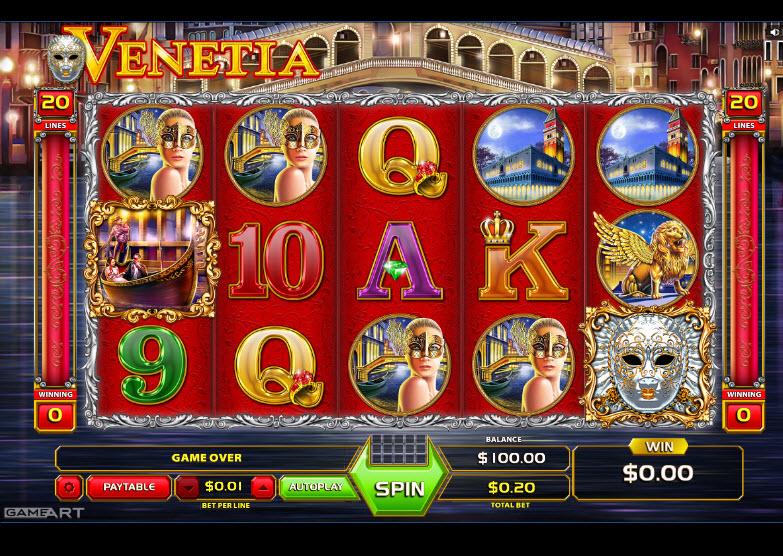 Venetia Video Slots by GameArt MCPcom