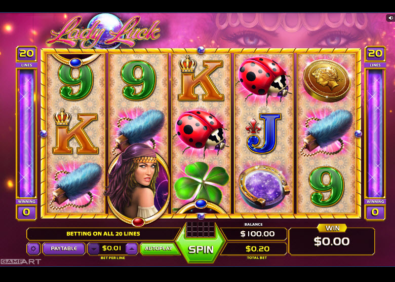 Lady Luck Video Slots by GameArt MCPcom
