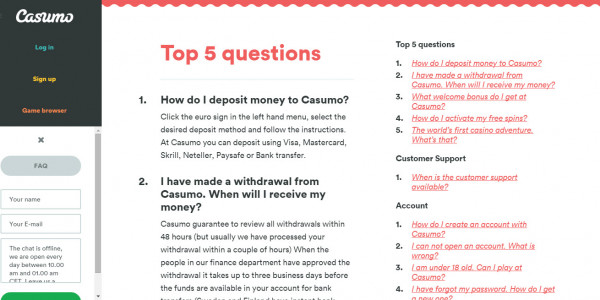 Casumo MCPcom5