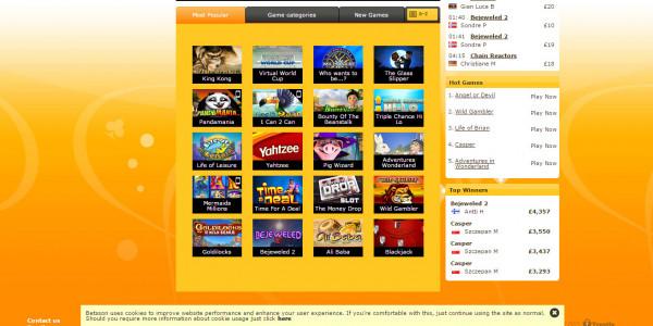Betsson Casino MCPcom games