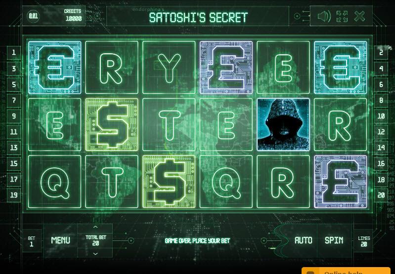 Satoshi's Secret Video Slots by Endorphina MCPcom