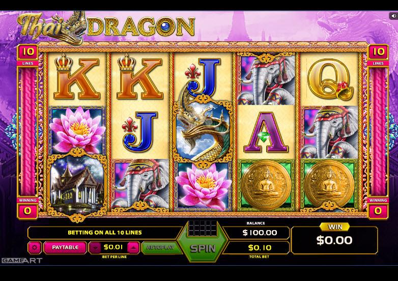 Thai Dragon Video Slots by GameArt MCPcom