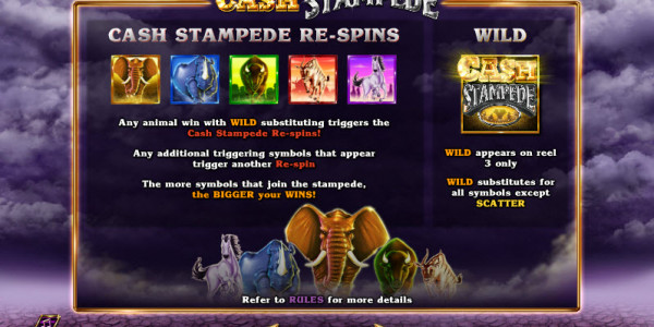 Cash Stampede Video slots by NextGen Gaming MCPcom PAY
