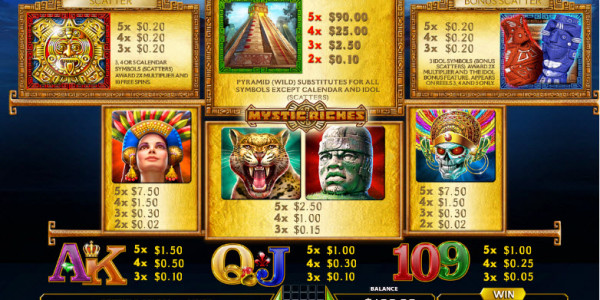 Mystic Riches Video Slots by GameArt MCPcom pay