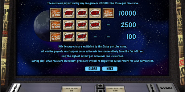 It Came from the Moon Video Slots by Realistic Games MCPcom pay