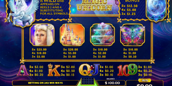 Magic Unicorn Video Slots by GameArt MCPcom pay