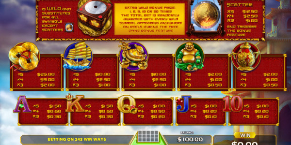 Ancient Gong Video Slots by GameArt MCPcom pay