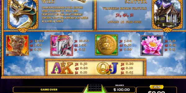 Thai Dragon Video Slots by GameArt MCPcom pay