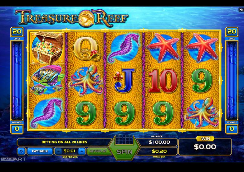 Treasure Reef Video Slots by GameArt MCPcom