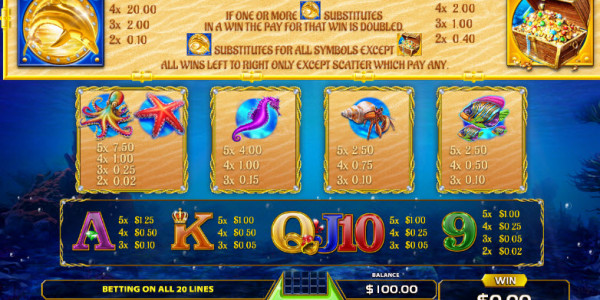 Treasure Reef Video Slots by GameArt MCPcom pay