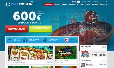 PlayMillion Casino MCPcom home
