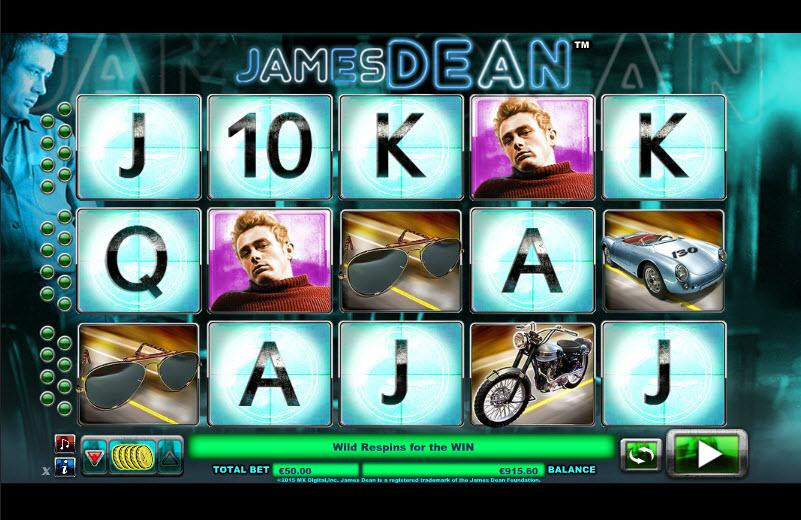 James Dean Video slots by NextGen Gaming MCPcom