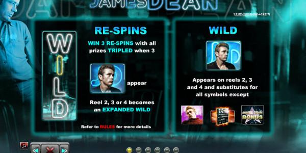 James Dean Video slots by NextGen Gaming MCPcom pay