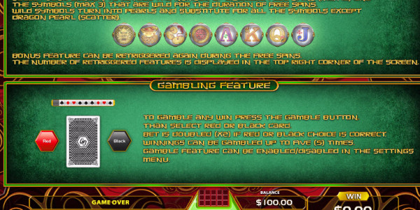 Dragons And Pearls Video Slots by GameArt MCPcom pay2