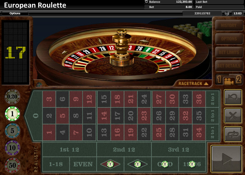 European Roulette Table game by Realistic Games MCPcom3