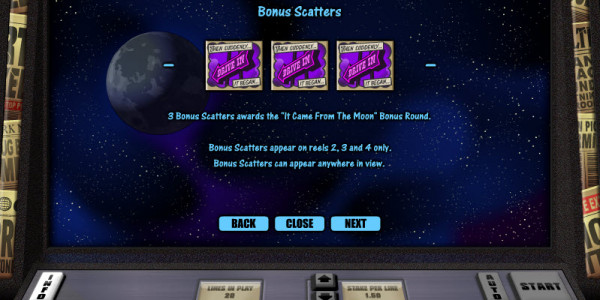 It Came from the Moon Video Slots by Realistic Games MCPcom pay2