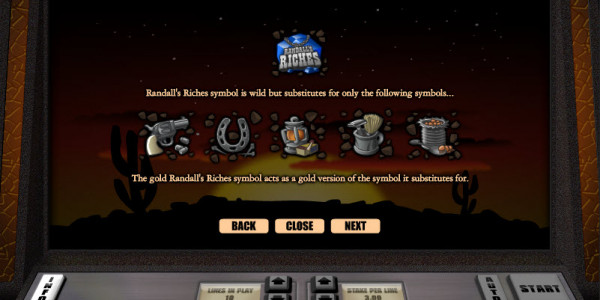 Randalls Riches Video Slots by Realistic Games MCPcom pay2