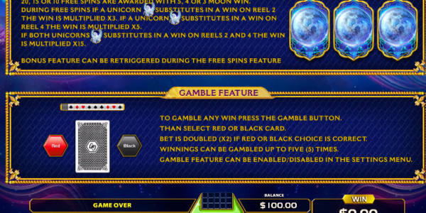 Magic Unicorn Video Slots by GameArt MCPcom pay2