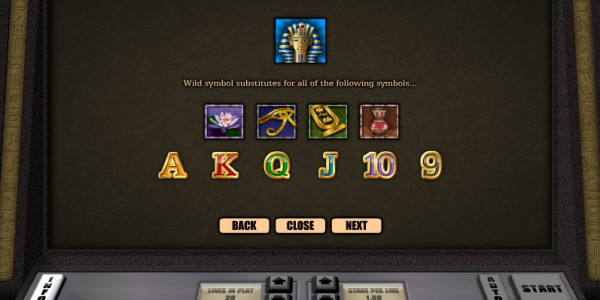 Tutankhamun Video Slots by Realistic Games MCPcom pay2