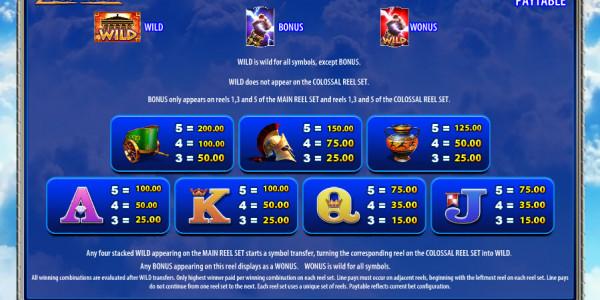 Zeus 1000 Video Slots by WMS MCPcom pay2