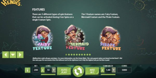 Hook's Heroes Video Slot by Netent MCPcom pay2