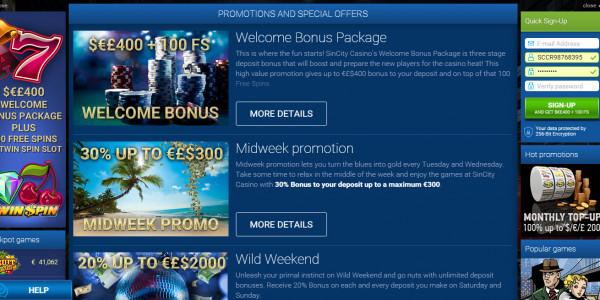 Sin City Casino MCPcom bonus