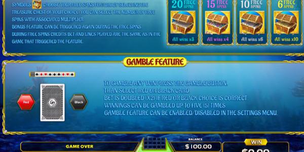 Treasure Reef Video Slots by GameArt MCPcom pay2