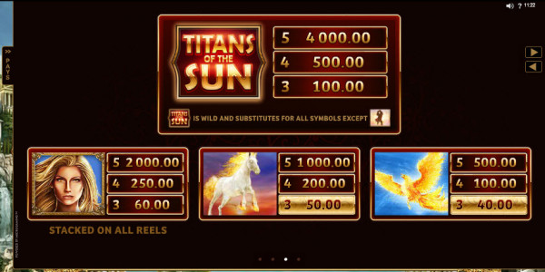Titans of the Sun — Theia Video slots by Microgaming MCPcom pay2