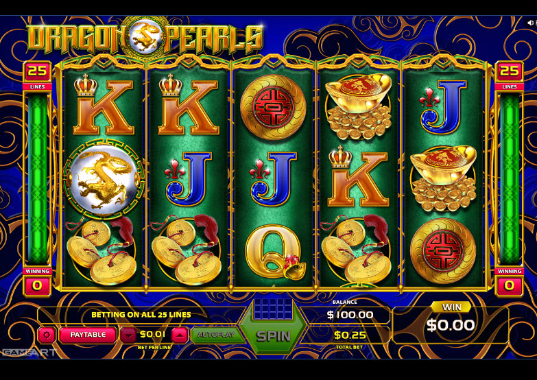 Dragons And Pearls Video Slots by GameArt MCPcom