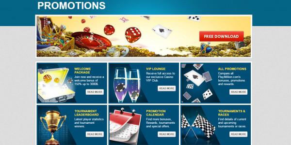 PlayMillion Casino MCPcom bonus
