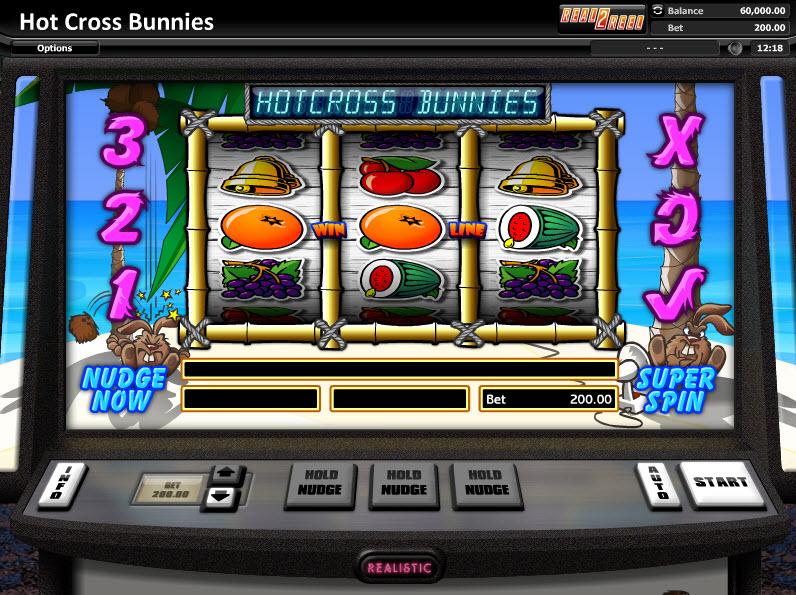 Hot Cross Bunnies - Классический слот от Realistic Games MCPcom