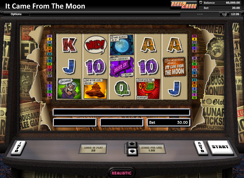 It Came from the Moon Video Slots by Realistic Games MCPcom