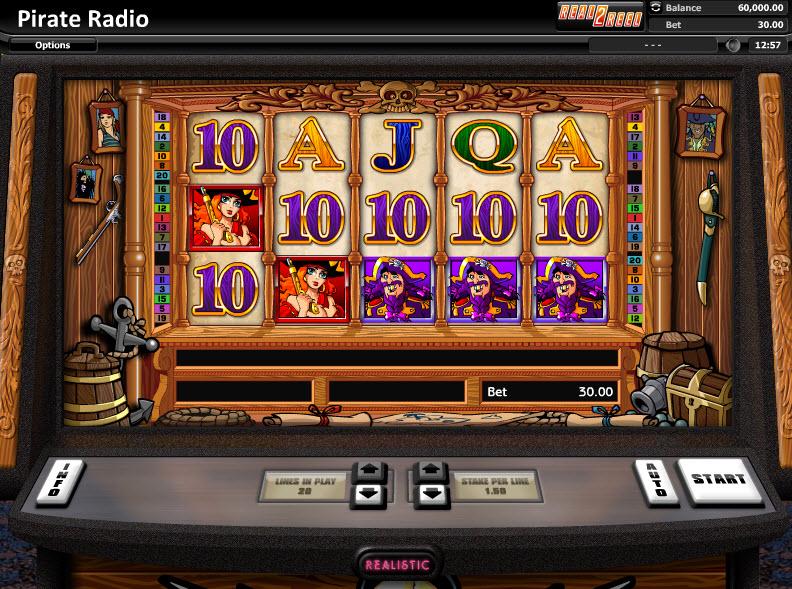 Pirate Radio Video Slots by Realistic Games MCPcom
