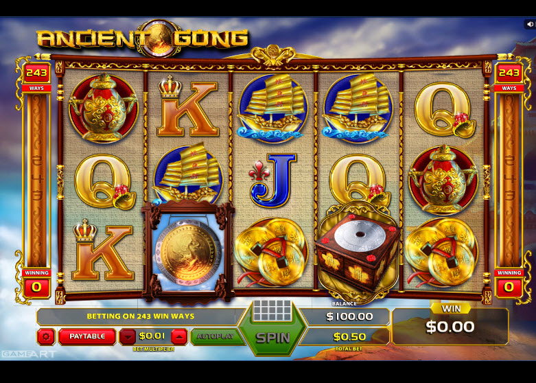 Ancient Gong Video Slots by GameArt MCPcom