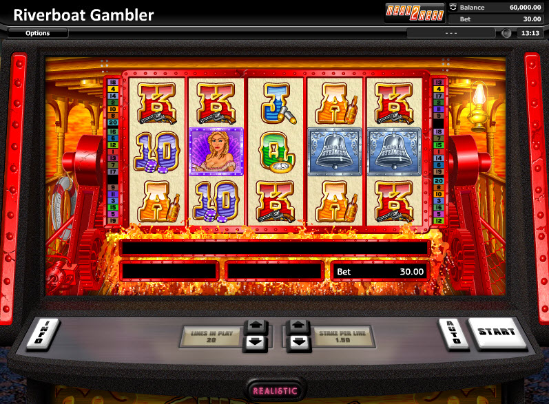 Riverboat Gambler Video Slots by Realistic Games MCPcom