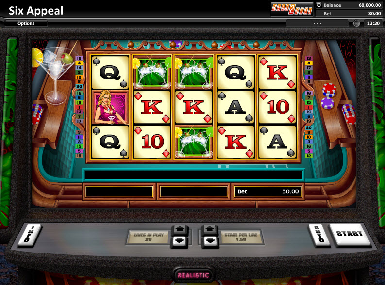 Six Appeal Video Slots by Realistic Games MCPcom