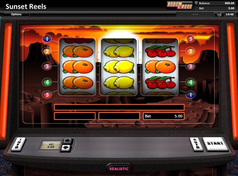 Sunset Reels - Классический слот от Realistic Games MCPcom