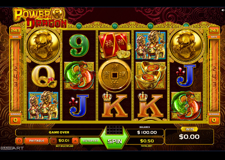 Power Dragon Video Slots by GameArt MCPcom